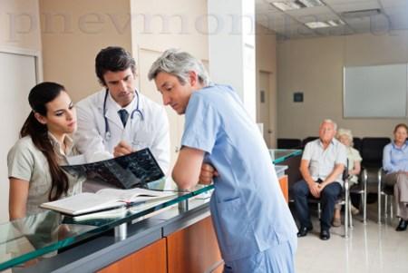 Этапы при крупозной пневмонии