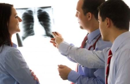 правосторонняя сегментарная пневмония