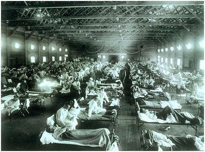 госпиталь в 1918 году