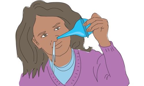 Промывание носовой полости фото