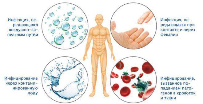 Причины и способы инфицирования