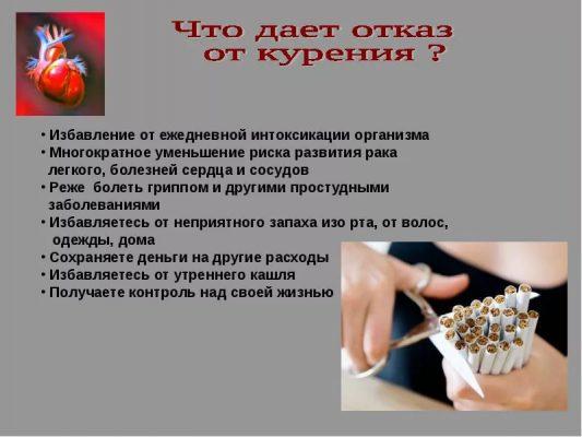 Реакция на отказ от курения